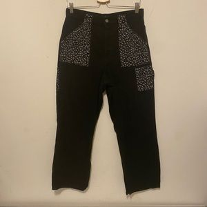 Urban Outfitters BDG Black Jeans with Floral Pockets Size 30